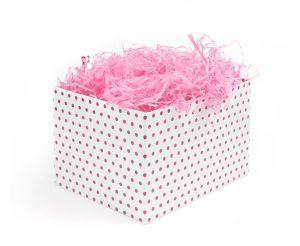 Różowy wypełniacz do pakowania prezentów