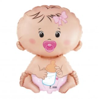 Balon foliowy w kształcie dziewczynki bobasa