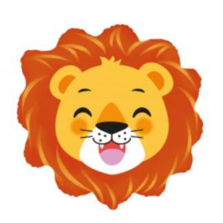 Balon foliowy w kształcie głowy lwa