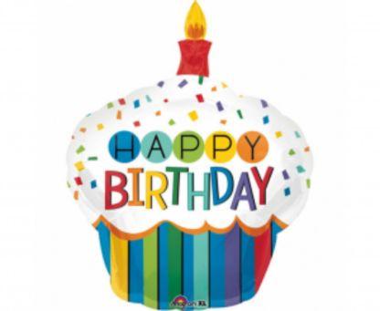 Balon foliowy w kształcie urodzinowego ciastka