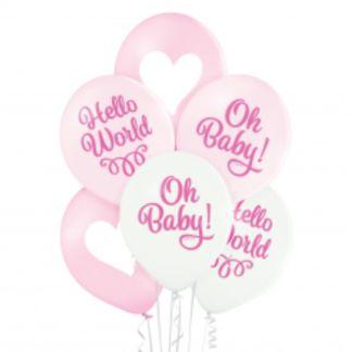 Zestaw różowych balonów lateksowych
