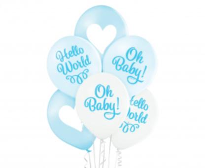 Zestaw niebieskich balonów lateksowych