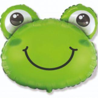 Balon foliowy w kształcie głowy żaby