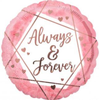 "Balon foliowy z napisem ""Always & forever"""