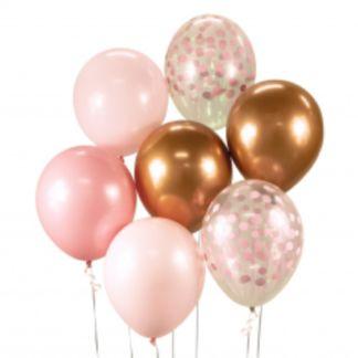 Zestaw balonów latekstowych w kolorach różu