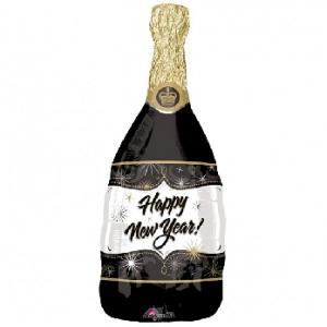Balon foliowey w kształcie butelki szampana na nowy rok