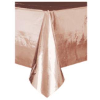 Obrus jednorazowy w kolorze różowego złota