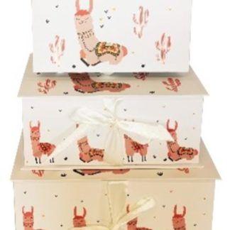 Pudełka prezentowe z rysunkami lam
