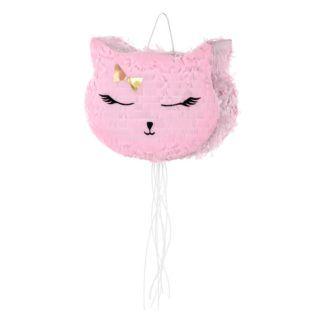 Piniata w kształcie różowej kotki