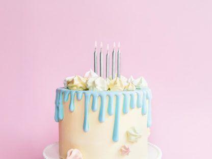 Świeczki srebrne, krótkie na tort