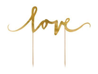 """Topper w kształcie napisu """"love"""""""