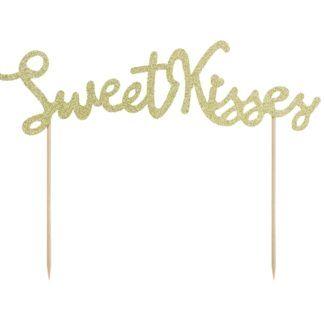 """Topper w kształcie napisu """"sweet kisses"""""""