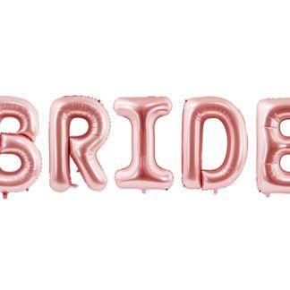 Różowe złoto balony foliowe w kształcie liter