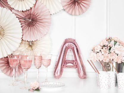 Różowe złoto balon foliowy w kształcie litery A