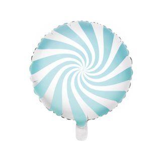 Niebieski balon foliowy w kształcie lizaka