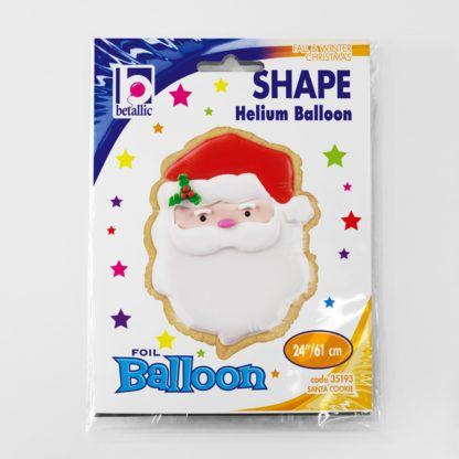 Balon foliowy w kształcie głowy świętego Mikołaja