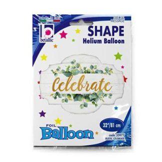 """Balon foliowy z napisem """"Celebrate"""""""
