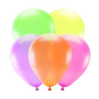 Neonowe balony lateksowe