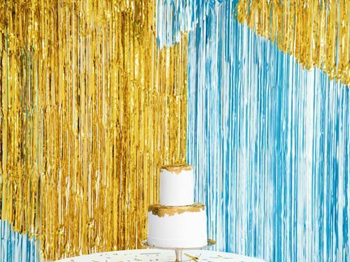 Złota i niebieska kurtyny party