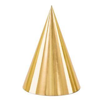 Złota czapeczka papierowa