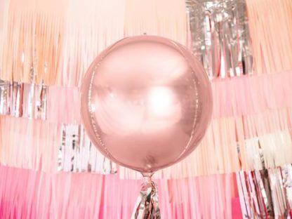 Balon foliowy kula w kolorze różowego złota