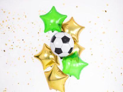 Balony foliowe w kształcie piłki i gwiazdek