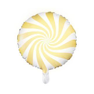 Balon foliowy w kształcie żółtego lizaka