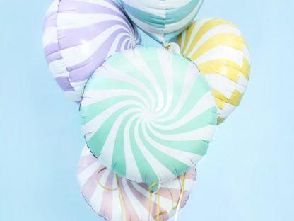 Balon foliowy w kształcie lizaka miętowego