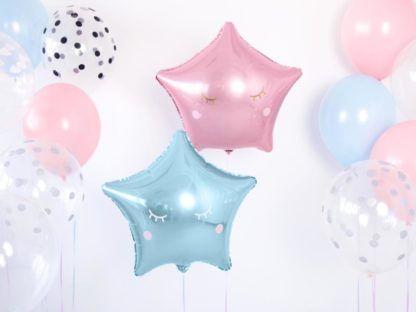 Balony foliowe w kształcie różowej i niebieskiej gwiazdki