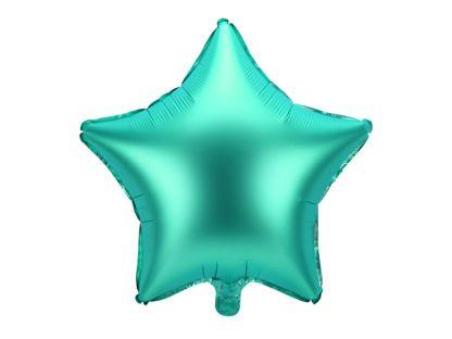 Zielony balon foliowy w kształcie gwiazdki