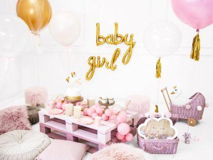 """Balonowe napisy """"baby"""" i """"girl"""""""