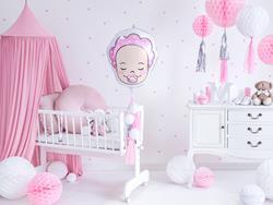Dekoracje z balonem foliowym w kształcie bobasa dziewczynki