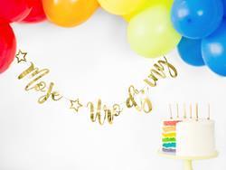 Girlanda moje urodziny z balonami i tortem