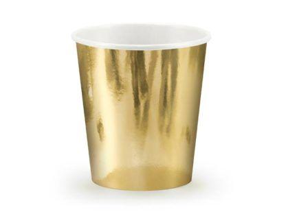 Złoty kubeczek papierowy
