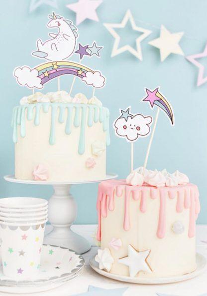 Toppery jednorożce i tęcza na tortach