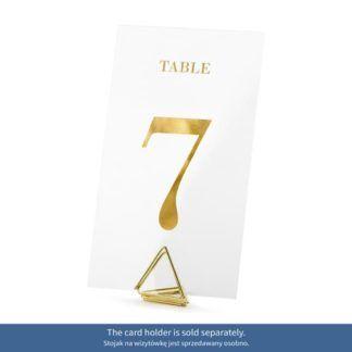 Transparentny numer 7 na stół