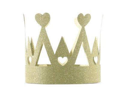 Złota korona papierowa