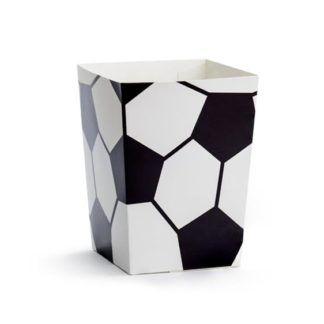 Pudełeczko na popcorn z motywem piłki nożnej