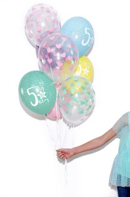 Zestaw kolorowych balonów lateksowych