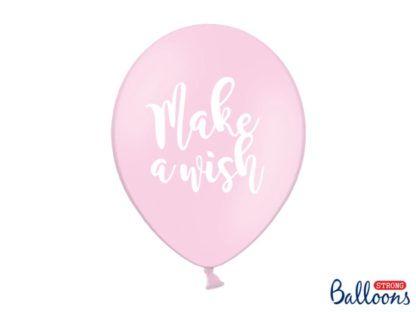 Różowy balon lateksowy z napisem