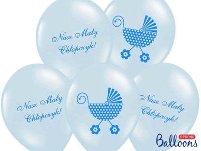 Niebieskie balony na narodziny chłopca
