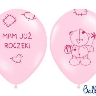 Różowe balony na pierwsze urodziny