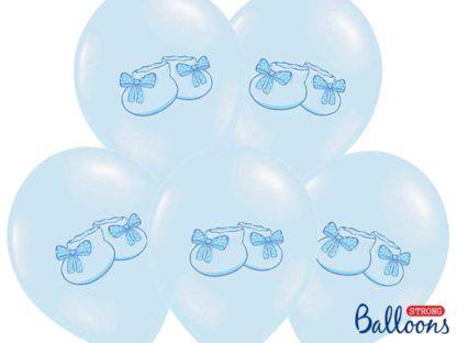 Zestaw niebieskich balonów z bucikami
