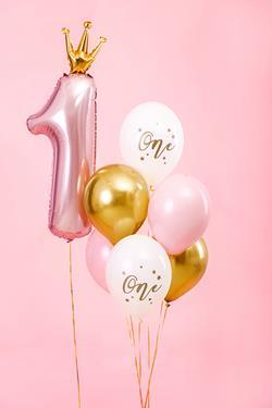 Zestaw balonów na pierwsze urodziny dla dziewczynki