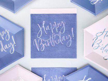 Granatowe i różowe dekoracje urodzinowe