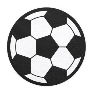 Serwetki w kształcie piłki nożnej