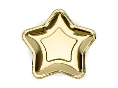 Złoty talerzyk w kształcie gwiazdki