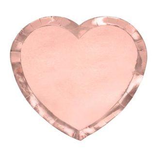 Różowy talerzyk w kształcie serca