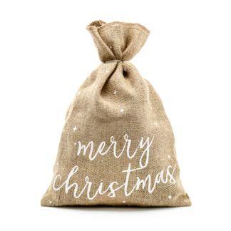 "Worek jutowy z napisem ""Merry Christmas"""