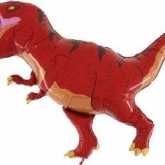 Balon foliowy w kształcie czerwonego dinozaura